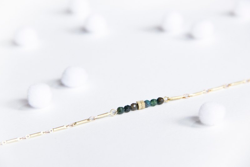 Simple linear bracelet / minimalist green - colorful jade bracelet brass Mother's Day gift