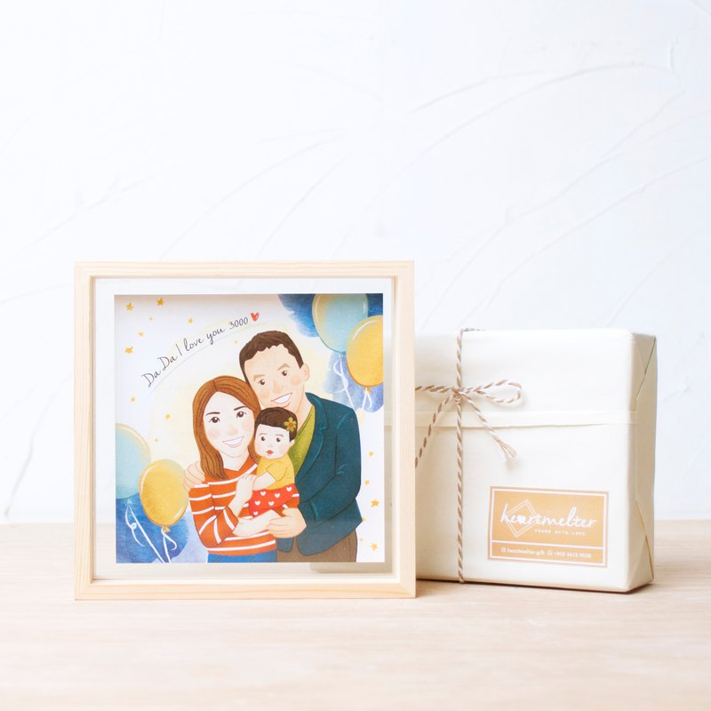 Customized portrait illustration frame