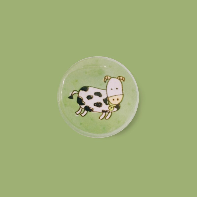 Bells and turtles | children hand-painted small badge