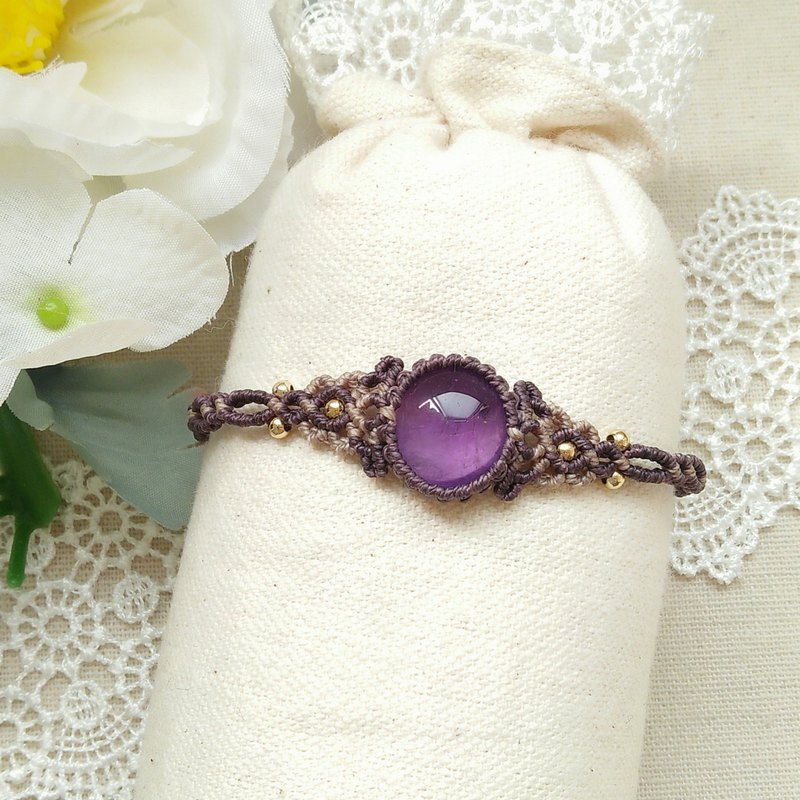 gallery. Aster. Amethyst X South American Brazilian Wax Bracelet