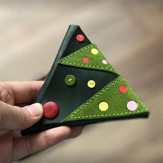 Christmas tree modeling triangle coin pocket