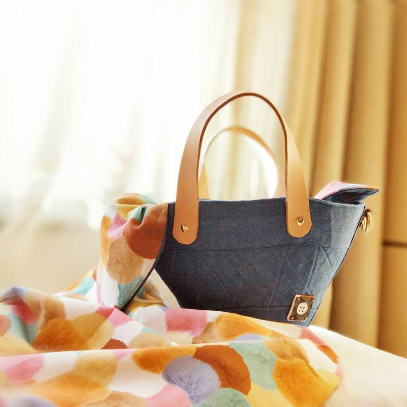 Autumn warm fan mini you carry blue handbag messenger bag
