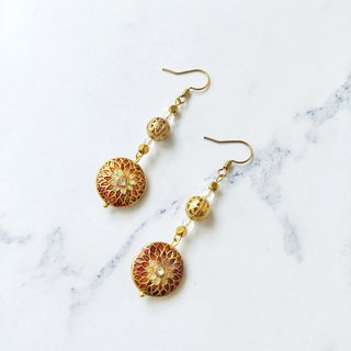 - Un Jess Cadeau - Classical Baroque Handmade Brass Earrings