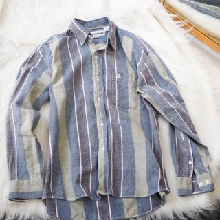 River Water Mountain - Kagawa Gray Blue Shallow Youth Day and Antique Cotton Shirt Top Jacket