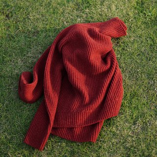 Fear of cold stars calling for tomato red pure cashmere Cashmere high collar pit warm sweater super thin