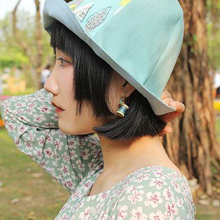 [Customized order] manual double-sided hat / fisherman hat / sun hat