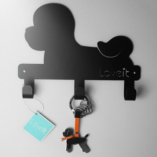 LOVEIT black iron wall hanging (large)