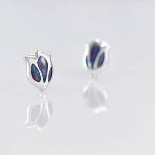[Wonderland] Tulip 925 Silver Earrings - Hummingbird HUMMINGBIRD