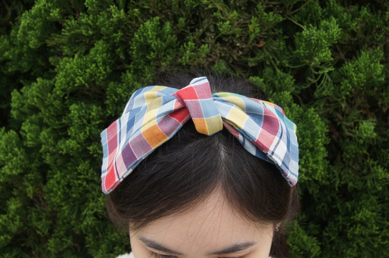 Colorful fruit candy l limited l bow tie tied tie hair band