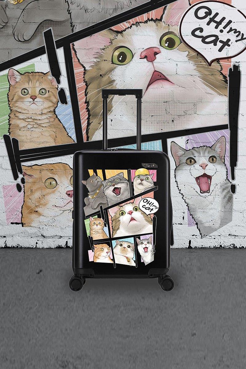 銀貓手提箱黑色20英寸