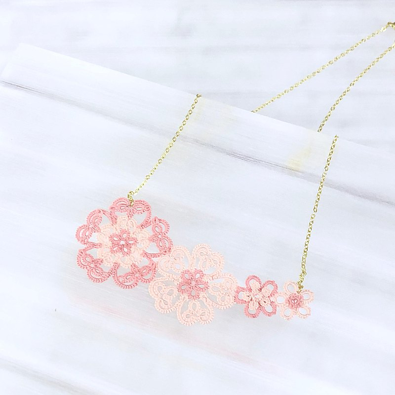 【訂製】櫻花蕾絲 項鍊 桜の花 Sakura Cherry Blossom Necklace