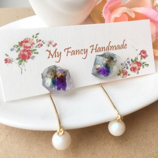 *My Fancy Handmade*cosmic dry earrings ear ear / ear clip