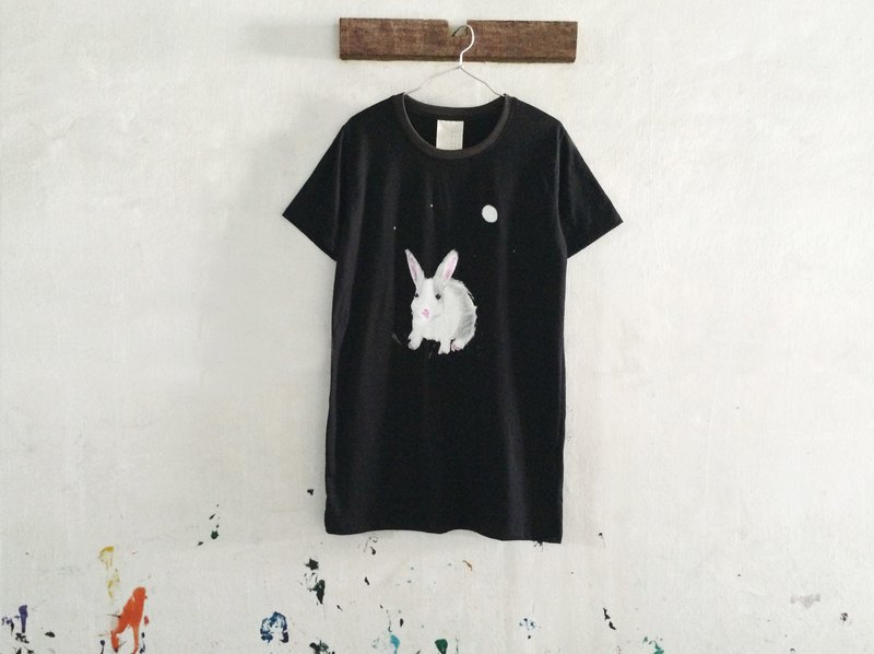 Rabbit and the Moon / T-shirt Dress // one piece