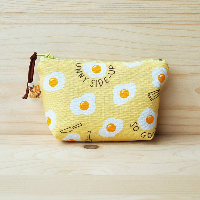 Delicious poached egg _ yellow coin purse / set