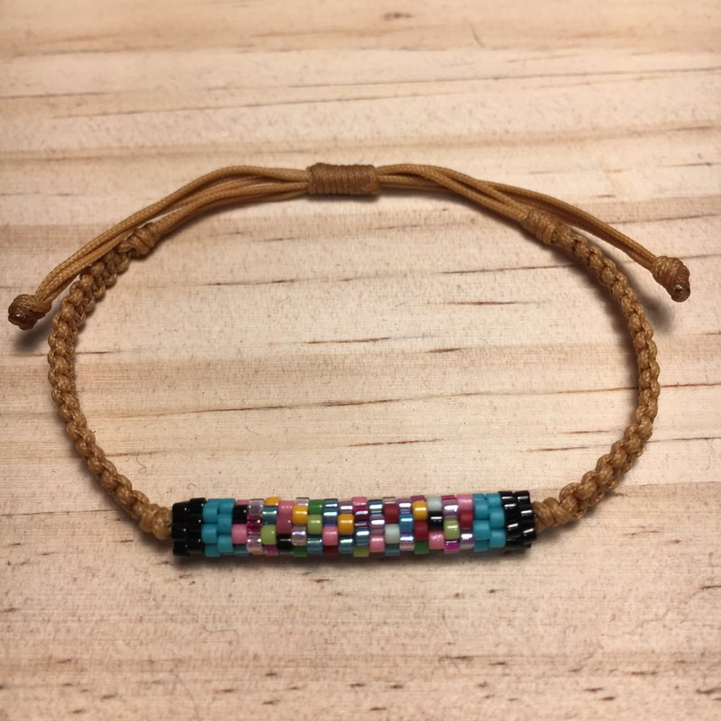 Lucky, friendship wax woven bracelet