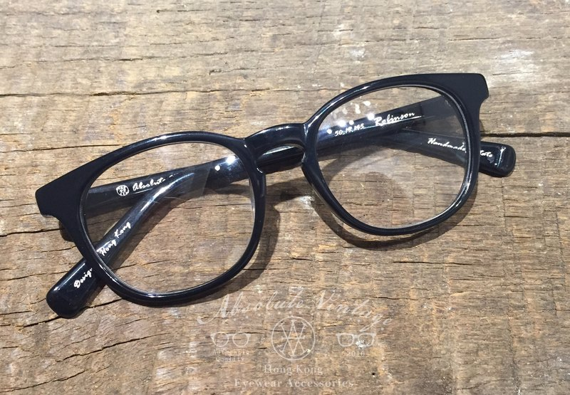 Absolute Vintage - Robinson Road (Robinson Road) Immature pear-shaped plate frame glasses - Black Black