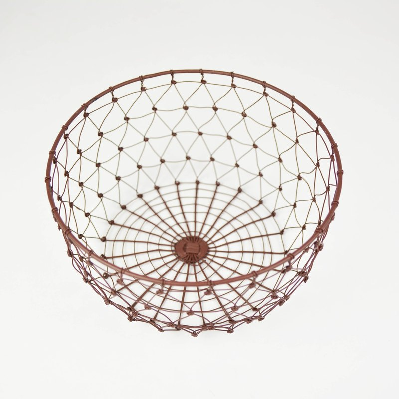 Iron basket series _ big round basket _ fair trade