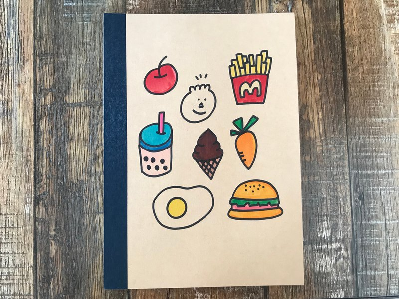 I want to eat no fat / big hand-painted notebook