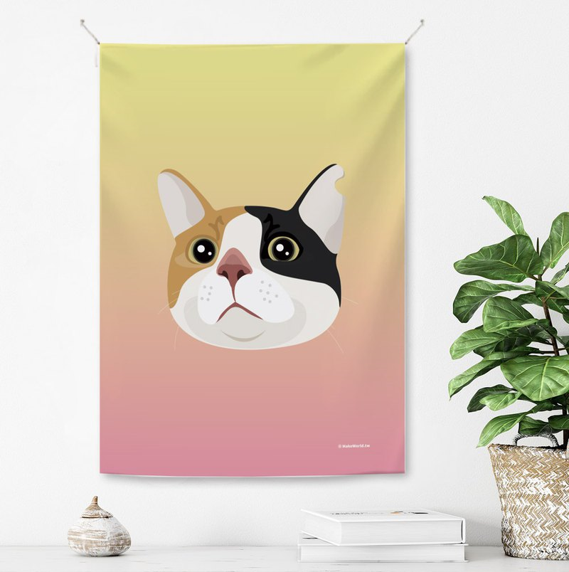 Make World hanging cloth (three cats)