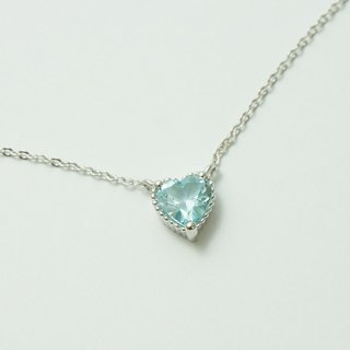 Three-Claw Love Natural Topaz トパーズ Topaz Sterling Silver Necklace Light Jewelry