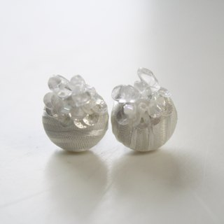 Crystal titanium earrings