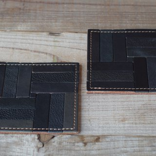 Nume leather mosaic coaster (C)