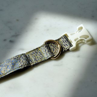 Dog Collar Safety Light-golden blue  pattern