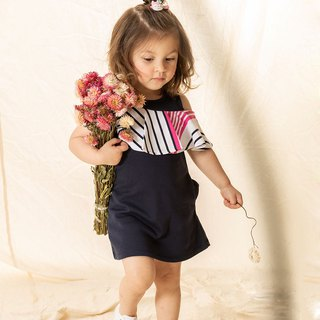 Banquet wind styling lotus leaves sleeveless girls' clothes