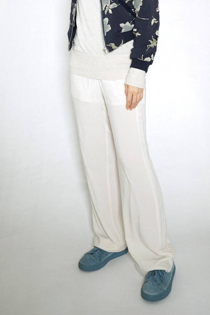 OUD original. Soft Cotton Pants With Side Trim Detail. XS-XXL/ Customized Size
