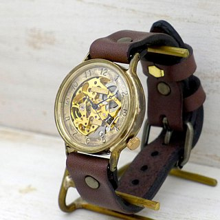 Handmade watch HandCraftWatch self-winding Brass Auotmatic Brass [BAM 021 GD / BR]