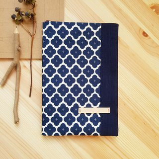 A5/25K adjustable cloth book blue and white geometry