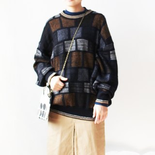 Have combined jiho square coffee color sweater vintage