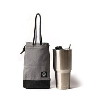 Point bag [icleaXbag] beverage bag simple drink accompanying bag can be lettering cement gray