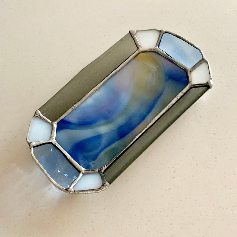 Jewelry Tray Pale Gray & Nuance Blue Bay View