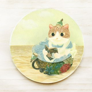Cat World - Alice Dream Wandering / Ceramic Sucker Coaster