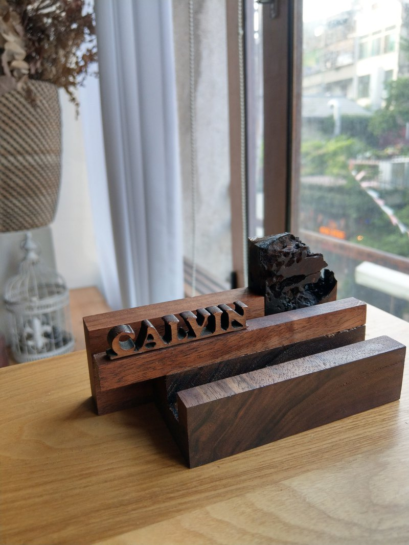 CL Studio [modern minimalism - geometric style wooden phone holder / business card holder] N156