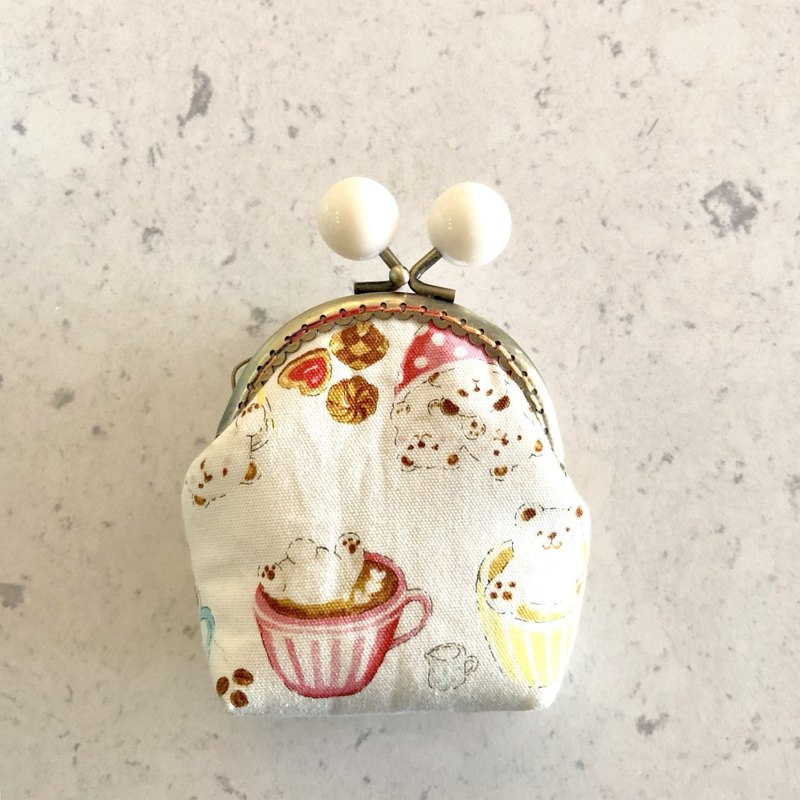 Little Rainbow Candy Gold Coin Purse - Coffee Bear