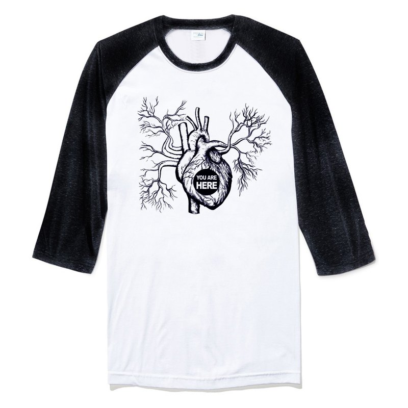 IN MY HEART 3/4 sleeve t shirt
