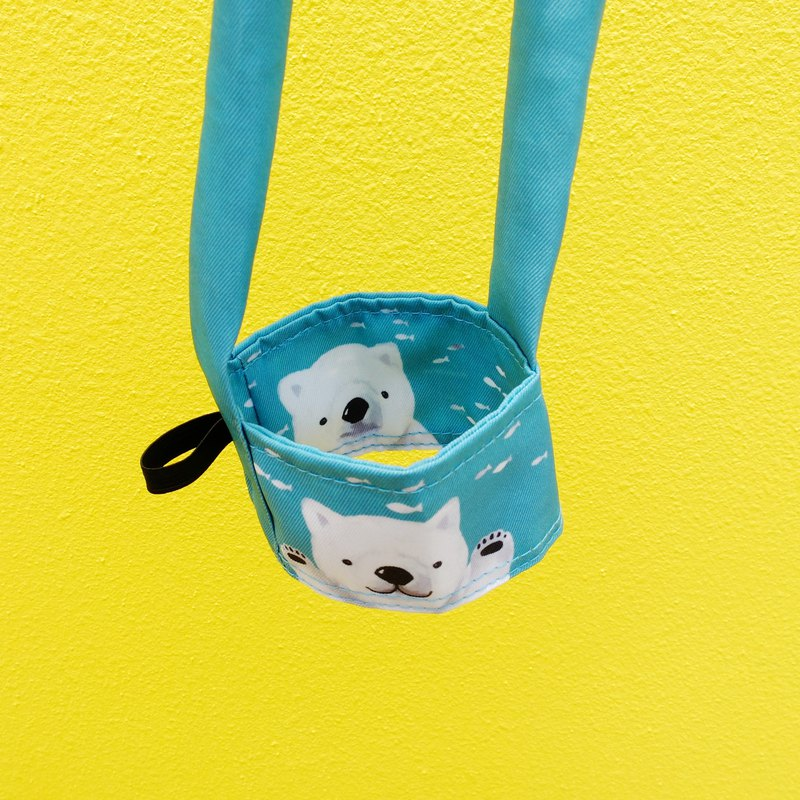 Daydream polar bear, drink bag (can hold straw)