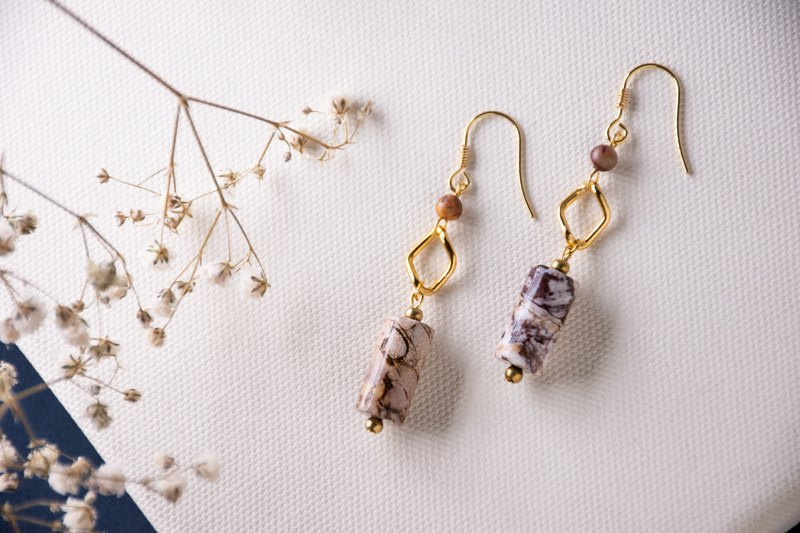 【Beauvoir】Naturel stone drop earrings
