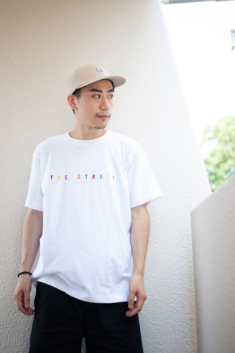 MULTI COLOR LOGO T-SH #WHITE