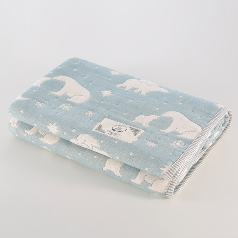 [Japanese made Mikawa Mian] thickened six gauze quilts-parent-child polar bear M