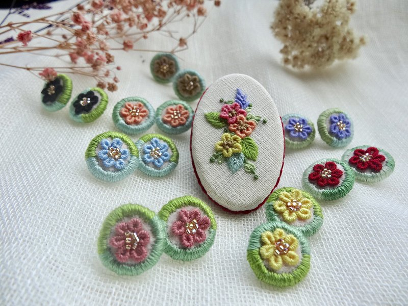 Embroidery Earrings/Colorful Series