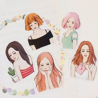 Love girl half-length stickers / 5 into