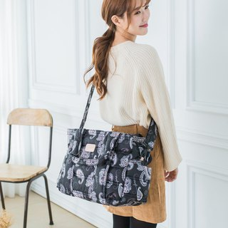 Commute to work super easy to use ‧ not just mom bag 【portable / shoulder / oblique back】 three-tier package - Paisley