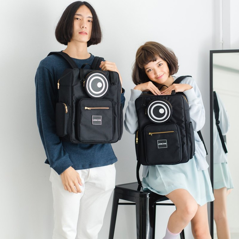 MONSTER BOX EYE BACKPACK : BLACK