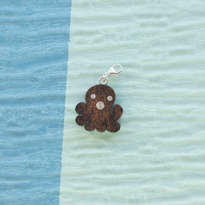 Octopus wooden charm