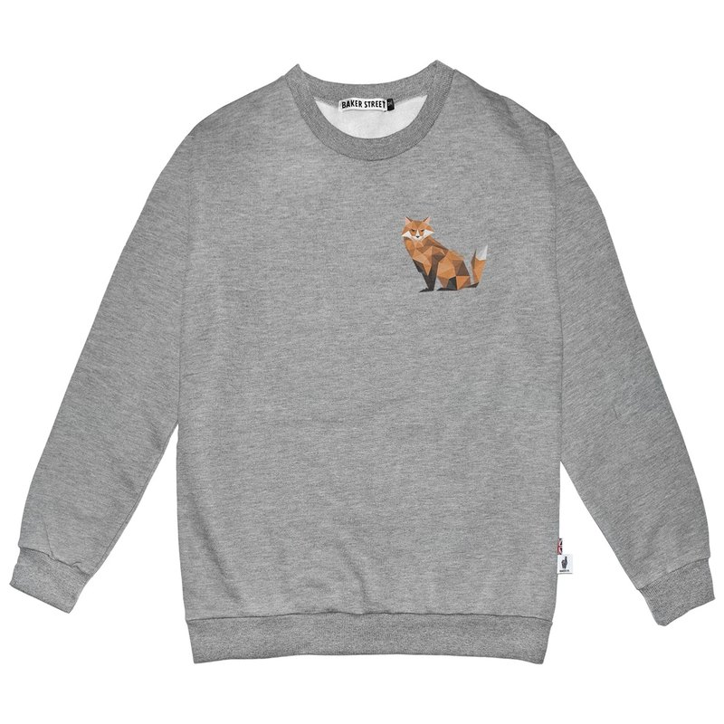 British Fashion Brand -Baker Street- Little Fox Printed Sweatshirt