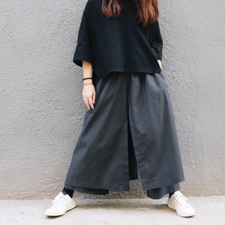 Homemade / two layer culottes - gray blue