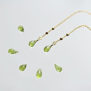 Drop of Peridot American earrings August birthstone earrings accepted
